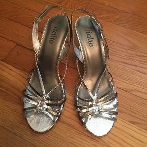 Silver Snakeskin Stiletto Heels